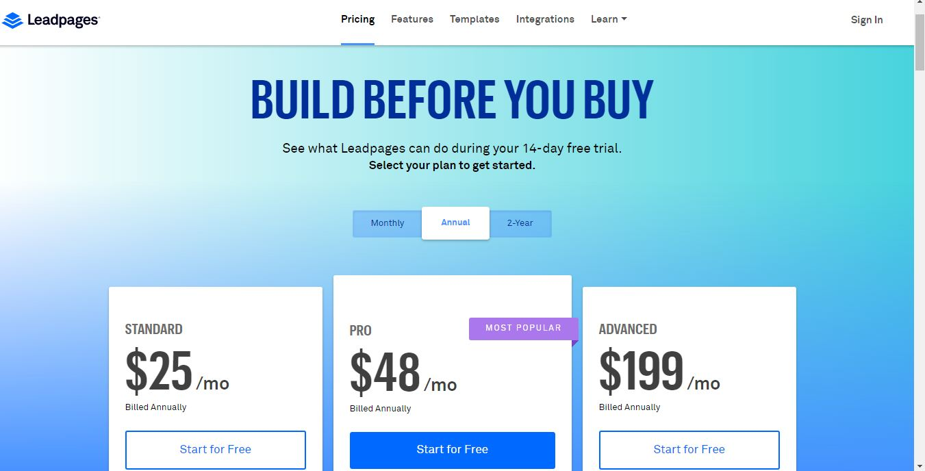 LeadPages : version standard ou version pro